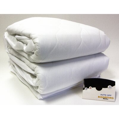 Biddeford Blankets Heated 50% Cotton Mattress Pad with Digital Controller - Size: Twin at Sears.com