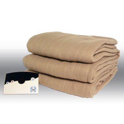 Biddeford Blankets Comfort Heated Polyester Knit Blanket - Color: Natural, Size: Queen at Sears.com