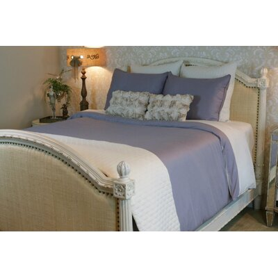 Conrad Rayon from Bamboo Duvet Cover Color: Platinum/Ivory, Size: Queen
