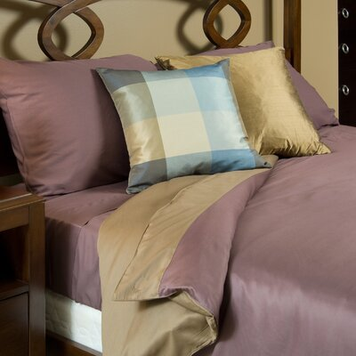 Conrad Mocha And Plum Duvet Cover Size: Twin