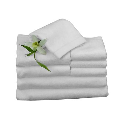 Bundle 8 Piece Towel Set Color: White