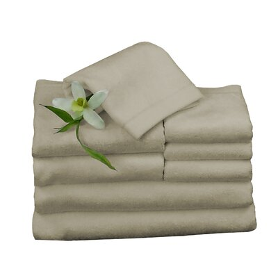 Bundle 8 Piece Towel Set Color: Champagne