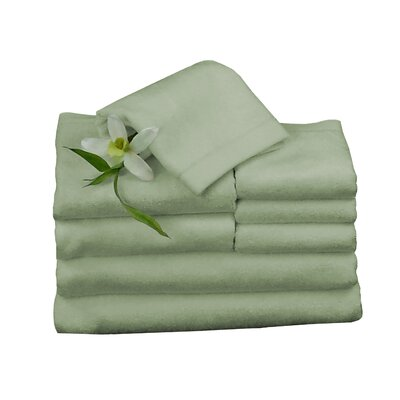 Bundle 8 Piece Towel Set Color: Sage