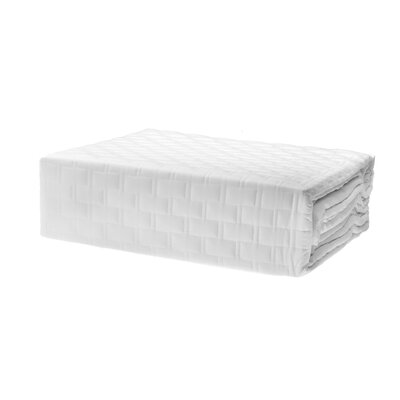 Coverlet Color: White, Size: King