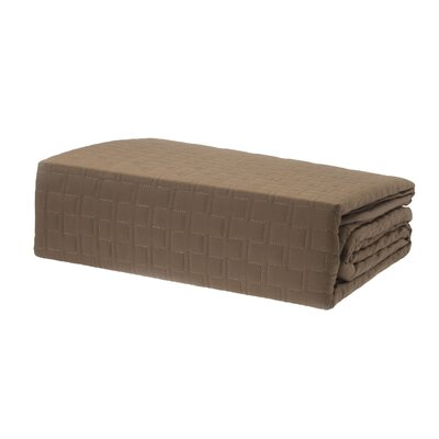 Coverlet Size: Queen, Color: Mocha