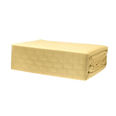 Coverlet Size: Queen, Color: Butter