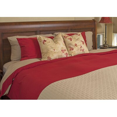 Conrad Rayon from Bamboo Duvet Cover Size: King, Color: Champagne/Cayenne