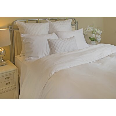 Conrad Rayon from Bamboo Duvet Cover Color: White/White, Size: Queen