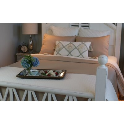 Conrad Rayon from Bamboo Duvet Cover Size: Full, Color: Champagne/Ivory