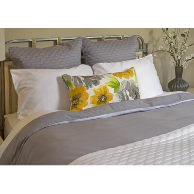 Conrad Rayon from Bamboo Duvet Cover Size: Full, Color: Platinum / White