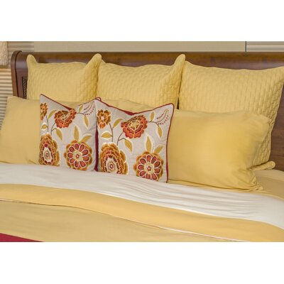 Conrad Rayon from Bamboo Duvet Cover Size: King, Color: Butter / Ivory