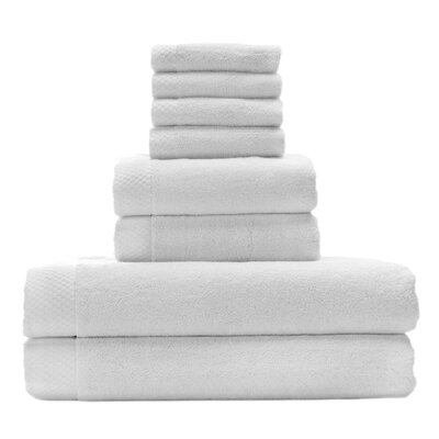 Resort Rayon from Bamboo 8 Piece Towel Set Color: White
