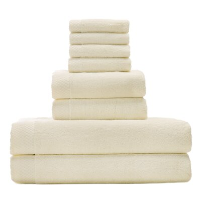 Resort Rayon from Bamboo 8 Piece Towel Set Color: Ivory
