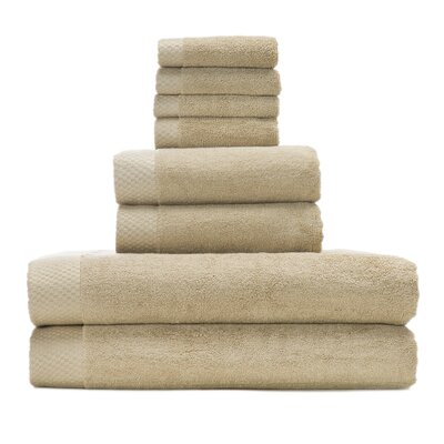 Resort Rayon from Bamboo 8 Piece Towel Set Color: Champagne