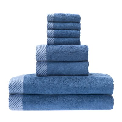 Resort Rayon from Bamboo 8 Piece Towel Set Color: Indigo