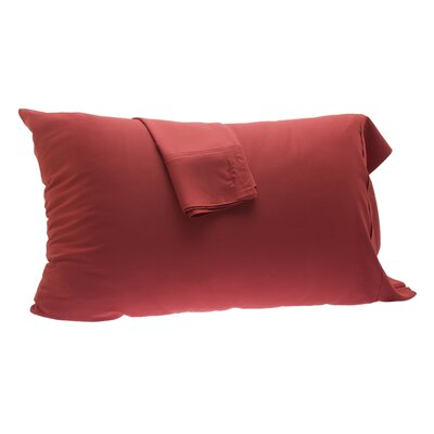 Pillowcase Size: King, Color: Cayenne