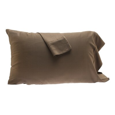 Pillowcase Size: King, Color: Mocha