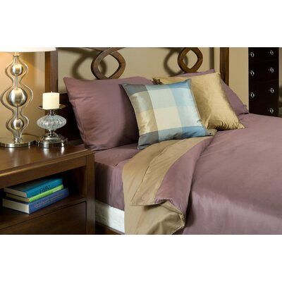 Duvet Cover Collection in Mocha and Plum
