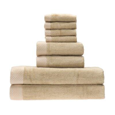 Resort 8 Piece Towel Set Color: Champagne