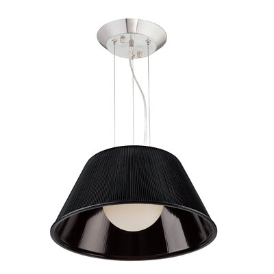 Ribo 1-Light Pendant Shade Color: Black