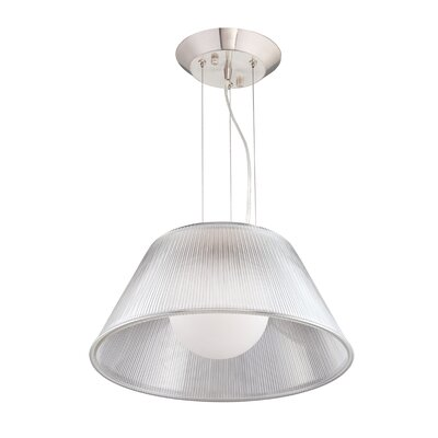 Ribo 1-Light Pendant Shade Color: Clear