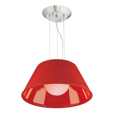 Ribo 1-Light Pendant Shade Color: Red