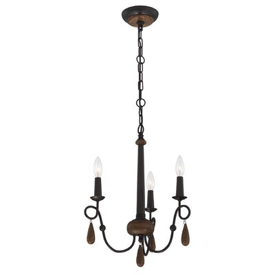 Corso 3-Light Candle-Style Chandelier