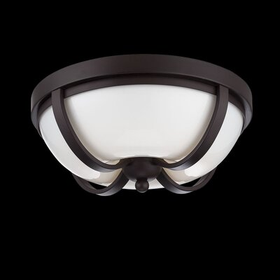 Andrew 2-Light Flush Mount Finish: Bronze