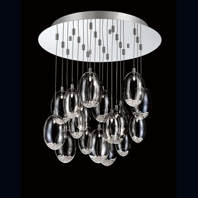 Hazelton 19-Light Cascade Pendant