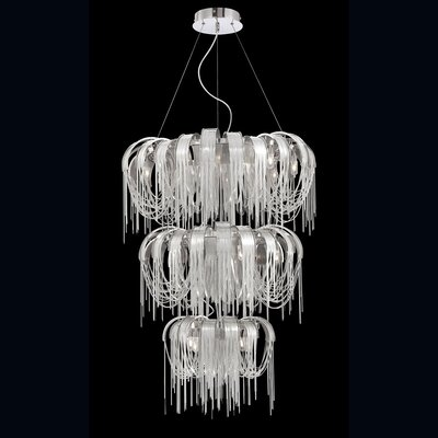Avenue 17-Light Shaded Chandelier