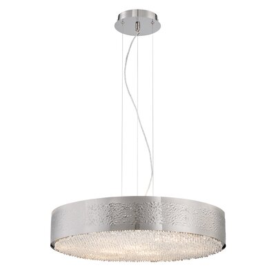 Cara 9-Light Drum Pendant Finish: Satin Nickel
