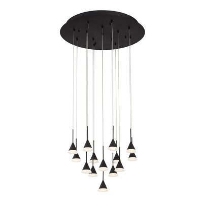 Albion 14-Light LED Cascade Pendant Finish: Black