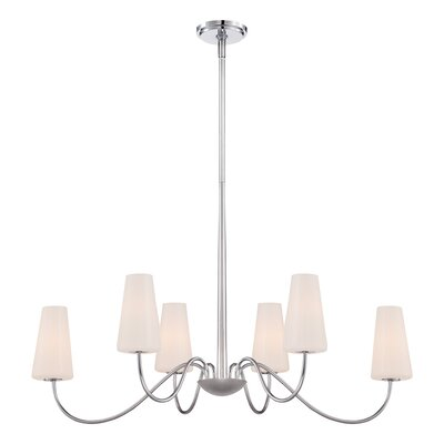 Enza 6-Light Candle-Style Chandelier