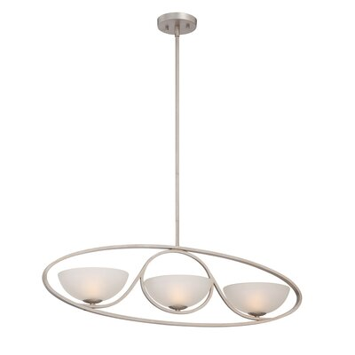 Carlucci 3-Light Candle-Style Chandelier