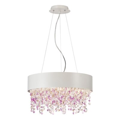 Romanelli 4-Light Crystal Chandelier Finish: White