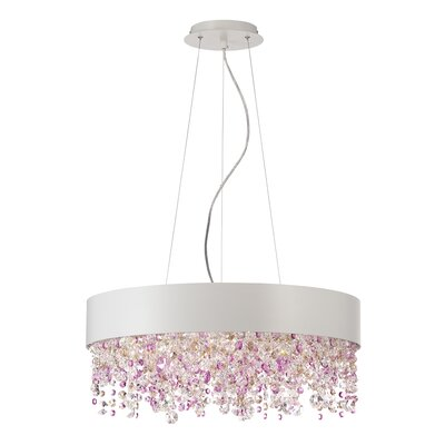 Romanelli 6-Light Crystal Chandelier Finish: White