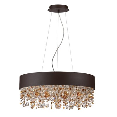 Romanelli 6-Light Crystal Chandelier Finish: Coffee