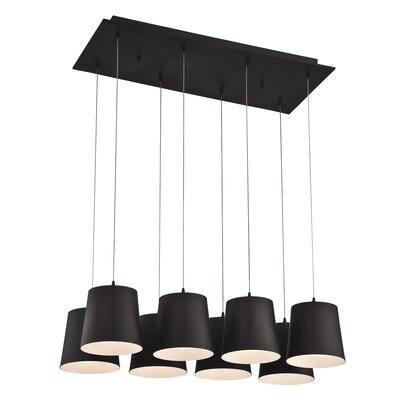 Borto 8-Light Kitchen Island Pendant Finish: Black