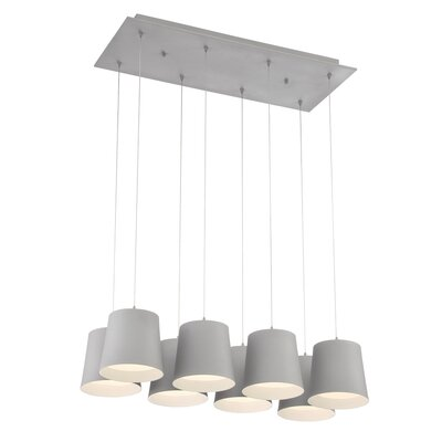 Borto 8-Light Kitchen Island Pendant Finish: Aluminum
