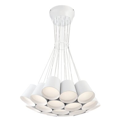 Borto 19-Light Cluster Pendant Finish: White