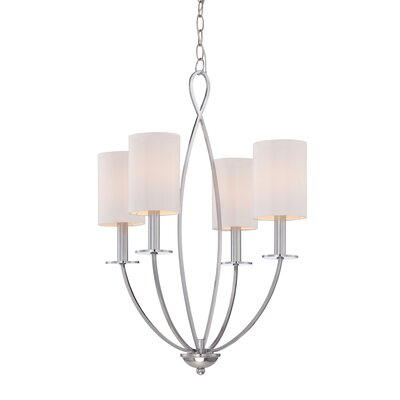 Castana 4-Light Candle-Style Chandelier Finish: Chrome