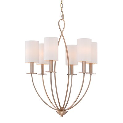 Castana 6-Light Candle-Style Chandelier Finish: Gold