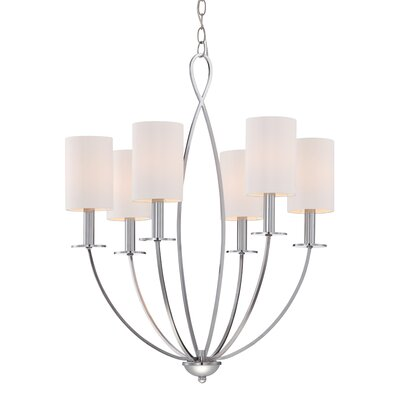 Castana 6-Light Candle-Style Chandelier Finish: Chrome