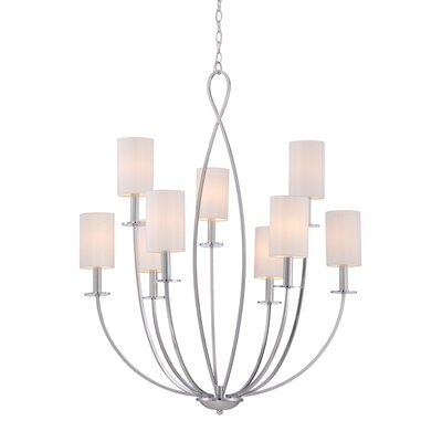 Castana 9-Light Candle-Style Chandelier Finish: Chrome