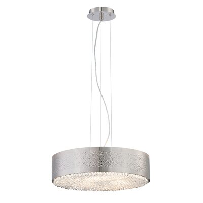 Cara 6-Light Drum Pendant Finish: Satin Nickel