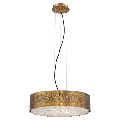 Cara 6-Light Drum Pendant Finish: Gold Bronze