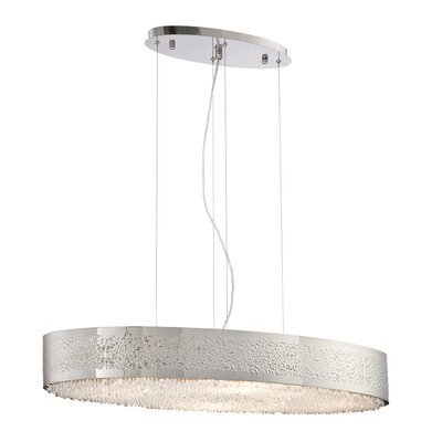 Cara Oval 8-Light Drum Pendant Finish: Satin Nickel