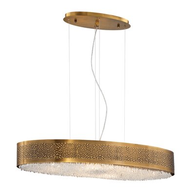 Cara Oval 8-Light Drum Pendant Finish: Gold