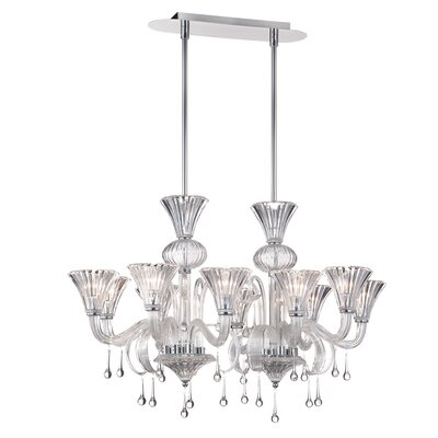 Gloria 10-Light Crystal Chandelier