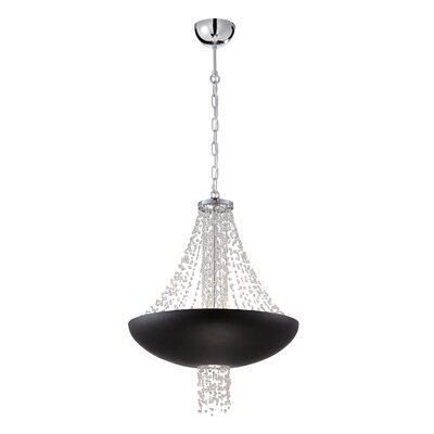 Lopez 9-Light Mini Pendant Finish: Black